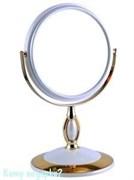 Зеркало настольное «WPearl&Gold», двухстороннее, 15 см.