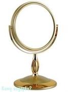 Настольное двухстороннее зеркало «Gold», 15 см.