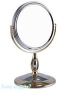 Настольное зеркало «Chrome&Gold», двухстороннее, 15 см.