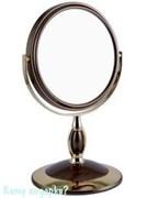 Зеркало настольное двухстороннее «Bronze&Gold», 15 см.