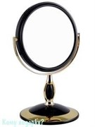 Зеркало настольное «Black&Gold», двухстороннее, 15 см.