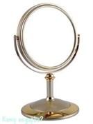 Зеркало настольное двухстороннее «Gold», 15 см.