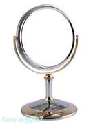 Зеркало настольное «Chrome&Gold», двухстороннее, 15 см.