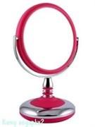 Зеркало настольное, 001,  двухстороннее, 15 см.