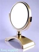 Настольное зеркало «Gold», двухстороннее, 15 см.