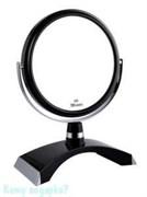 Двухстороннее настольное зеркало «Black», 15 см.