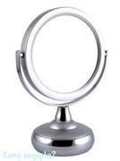 Зеркало настольное «Silver», двухстороннее, 12,5 см