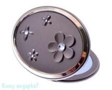 Компактное зеркало «Bronze&Gold», 3-кратное увеличение, с кристаллами
