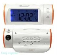Электронная метеостанция: часы, термометр, календарь, будильник,  17x9x8см