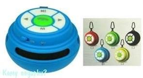 Портативная беспроводная колонка Bluetooth, micro USB/SD, AUX, FM, мощн. 3 Вт, карабин, 001