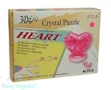 Пазл «Сердце» 3D, 46 элем., 18x14x4см