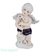 Статуэтка фарфоровая «Ангел с белыми цветами», h=20 см