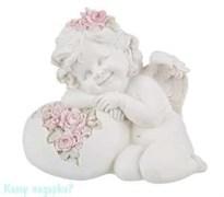 Фигурка «Мечтательный ангелочек», коллекция «amore», h=15 см
