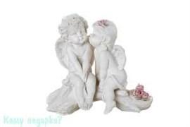 Фигурка «Влюбленные ангелы», коллекция «amore», 13x7x13 см