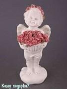 Фигурка «Ангел с букетом роз», коллекция «amore», h=21 см