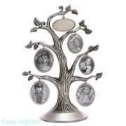 Фоторамка «Дерево» для 5-ти фото, h=33 см, серебро