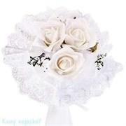 Дублёр букета невесты (3 мини букета), белый