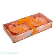 Набор свечей «Цветы» из 2 шт., оранжевый
