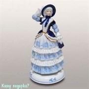 Статуэтка музыкальная «Девушка в синей шляпке», h=23 см
