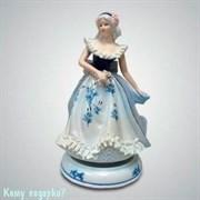 Статуэтка музыкальная «Девушка с цветком», h=20 см