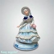 Статуэтка музыкальная «Девушка с розовой сумочкой», h=18 см