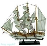 Модель корабля, серый, h=34 см