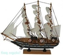 Модель корабля, темно-коричневый, h= 34 см