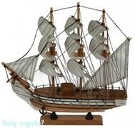 Модель корабля, коричневый, h= 34 см