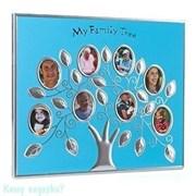 Рамка на 8 фото «Семейное древо», 30х25 см, голубой