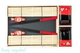 Набор для суши на 2 персоны, черно-красный