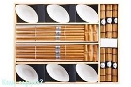 Подарочный набор для суши на 6 персон, белый