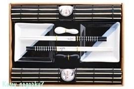 Набор для суши на 2 персоны, черно-белый
