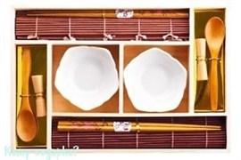Набор для суши на 2 персоны, белый, 40425