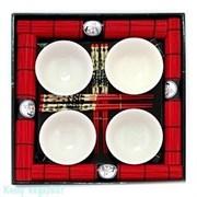 Набор для суши на 4 персоны, белый, 40407