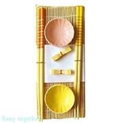 Набор для суши на 2 персоны, желтый, розовый