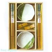 Набор для суши на 2 персоны, бело-зеленый