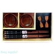 Набор для суши на 2 персоны, коричневый, 40344