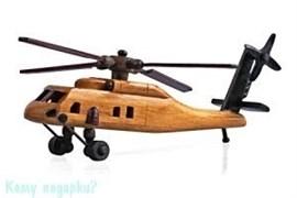 Модель вертолета, 19х6х8 см, коричневый