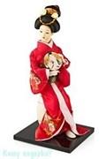 Кукла декоративная «Гейша с веером», h=25 см