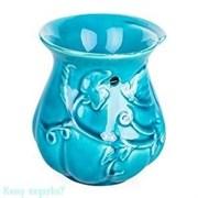 Аромалампа керамическая «Цветок», h=12 см, голубая