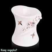 Аромалампа керамическая «Цветы», h=9 см