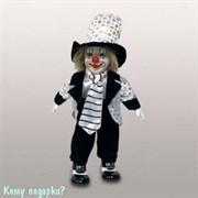 Фигурка музыкальная «Клоун», h=30 см, черно-белый