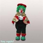 Фигура музыкальная «Клоун», h=27 см, красно-зеленый
