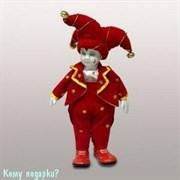 Фигурка музыкальная «Клоун», h=29 см, красный