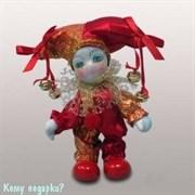 Фигурка декоративная «Клоун», h=12 см, красный