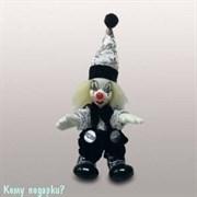 "Фигурка декоративная ""Клоун"", h=10 см, черно-белый"