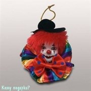 Подвеска «Клоун», h=8 см, разноцветный