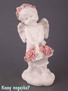 Фигурка «Ангелочек с корзиной цветов», коллекция «amore», h=20 см