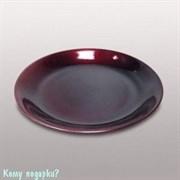 Тарелка декоративная, d=35 см, бордовая