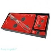 Набор для суши из 4 предметов, 28х13 см, красный